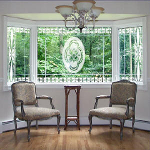 Vinyl Etched Decorative Decals The Look Of Real Etched