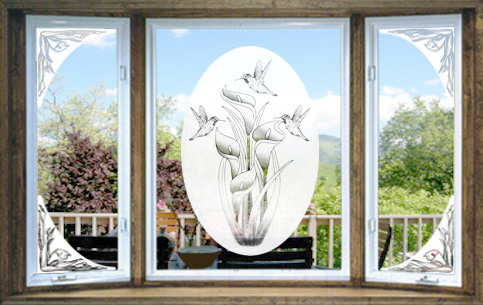 Vinyl Etchings Decorative Decals The Look Of Real Etched Glass For