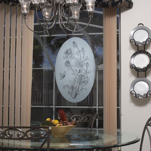 Vinyl Etchings Decorative Decals The Look Of Real Etched Glass - Vinyl etched glass window decals